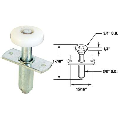 Prime-Line Nail-Down Bi-Fold Door Top Roller Guide (2 Count)