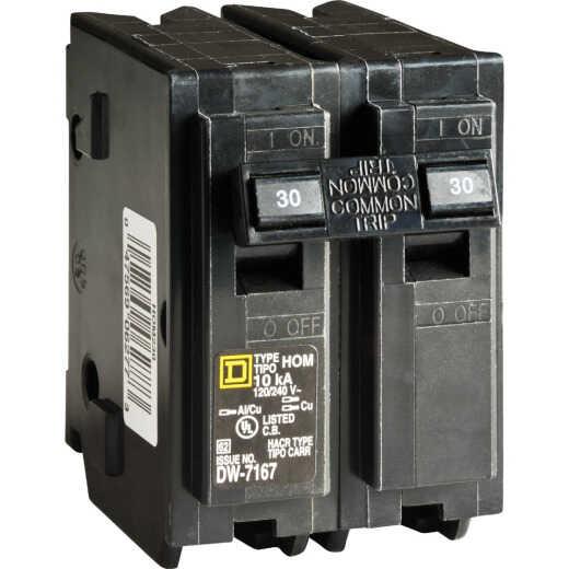 Square D Homeline 30A Double-Pole Standard Trip Circuit Breaker