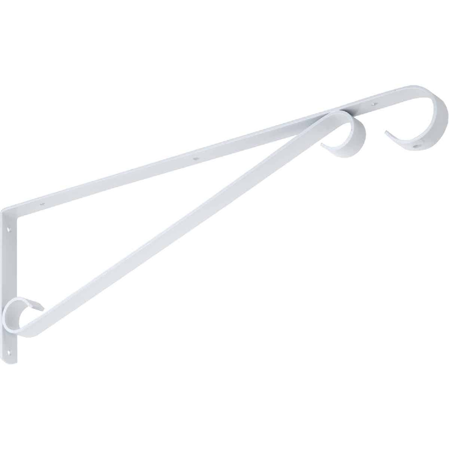 National 15 In. White Steel Hanging Plant Bracket Image 3