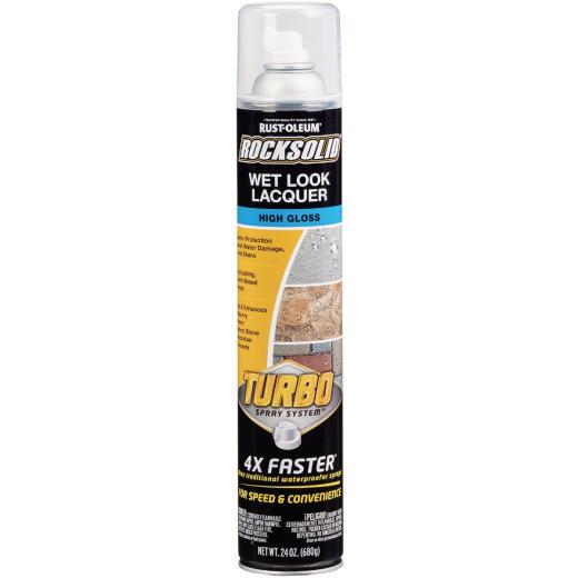 Rust-Oleum RockSolid 24 Oz. Turbo Spray System High Gloss Wet Look Lacquer Spray Sealer