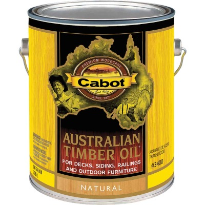 Cabot Australian Timber Oil Translucent Exterior Oil Finish, Natural, 1 Gal.